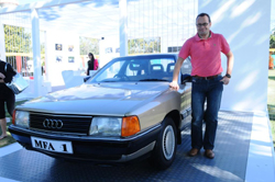 Audi India MD with Audi 100
