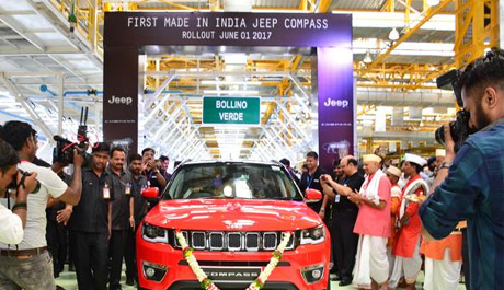 Jeep rolls out Made In India Compass SUV