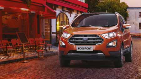 Ford Ecosport,Most popular compact SUV with BS VI engine